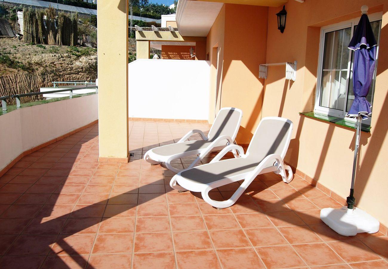 Apartamento en Nerja - Apartamento con aire acondicionado a30 mde la playa