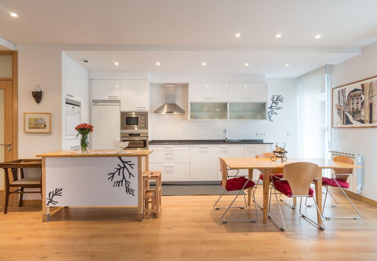 Apartamento en San Sebastián - Apartamento de 2 dormitorios a800 mde la playa