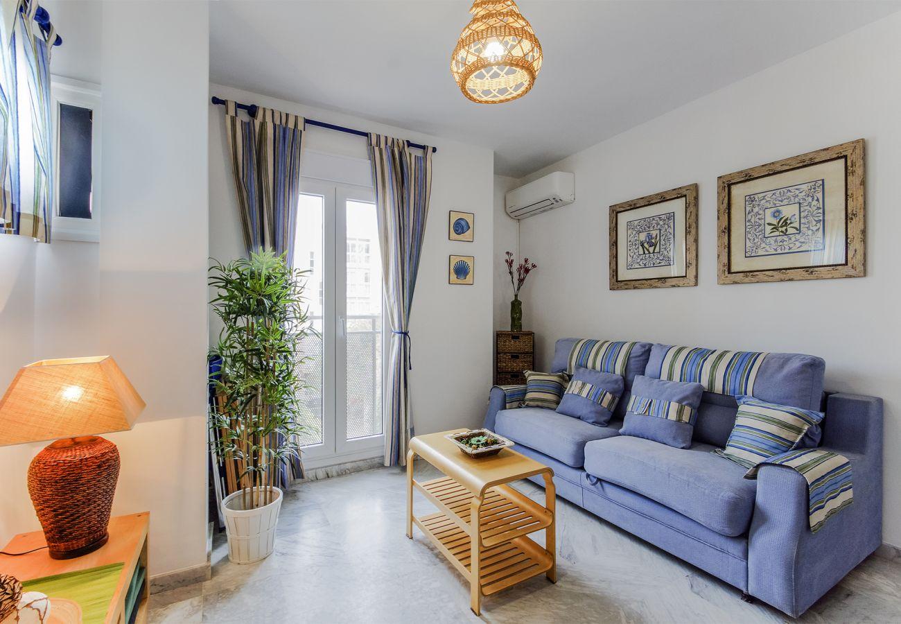 Apartamento en Cádiz - Apartamento con aire acondicionado a300 mde la playa