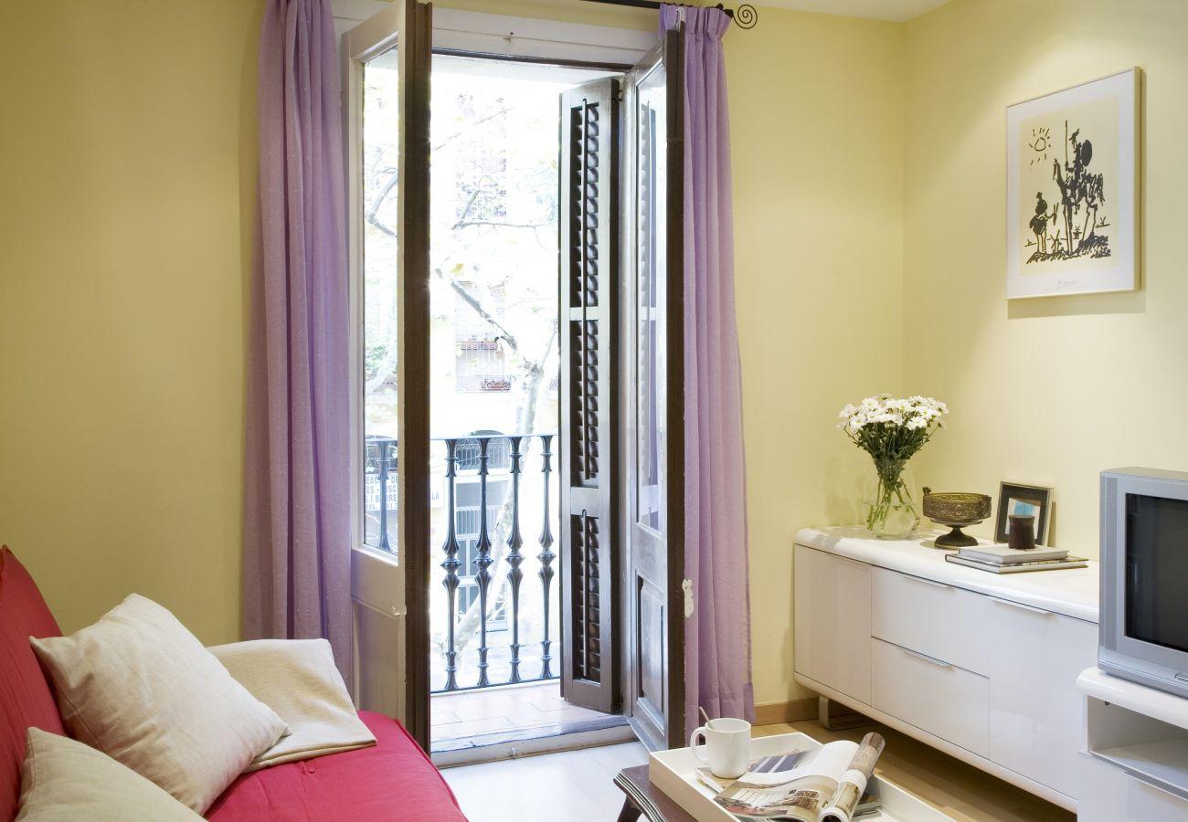 Bonito apartamento con balcón en el barrio Sant Antoni en Barcelona