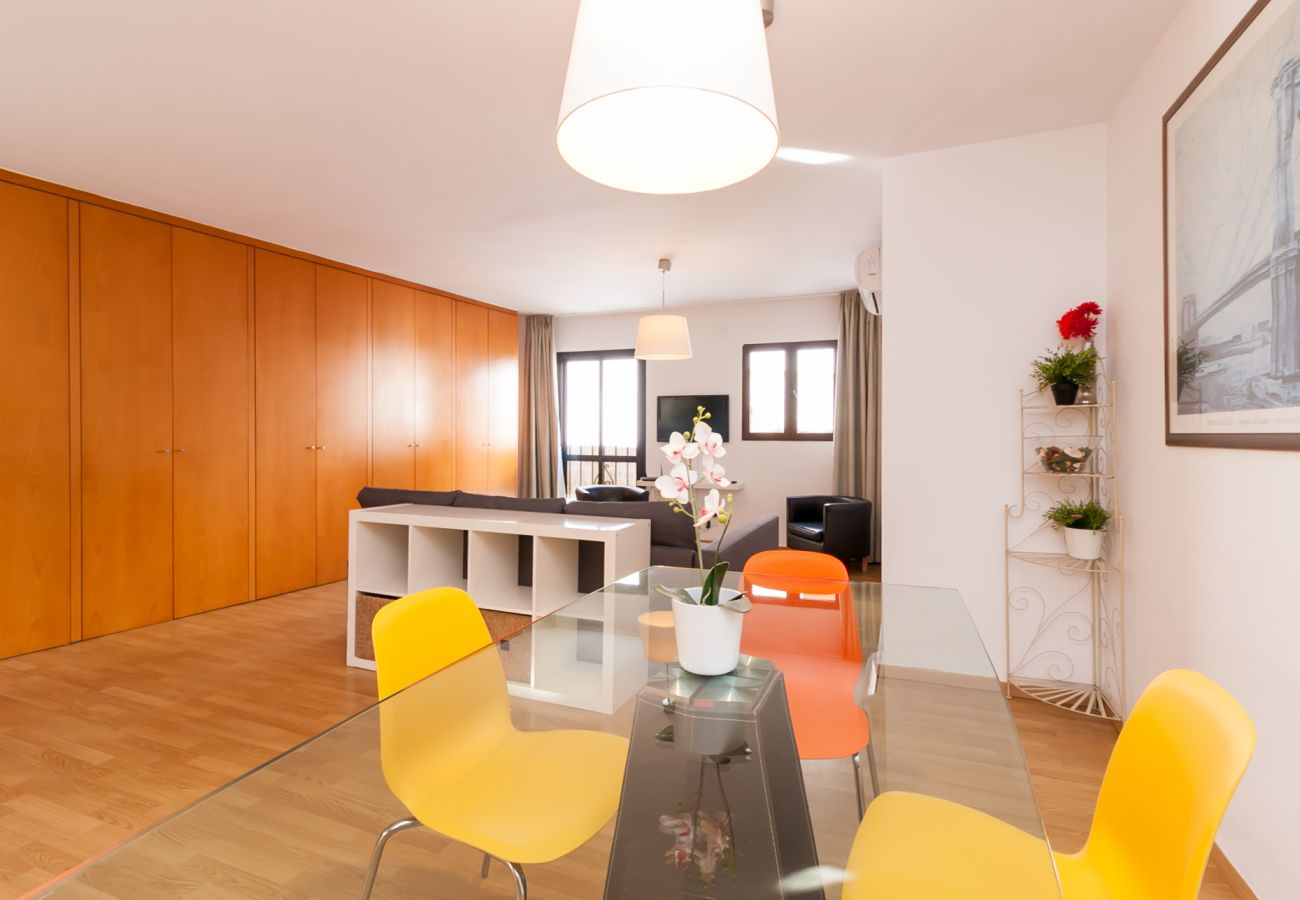 Apartamento en Nerja - Apartamento con aire acondicionado a100 mde la playa