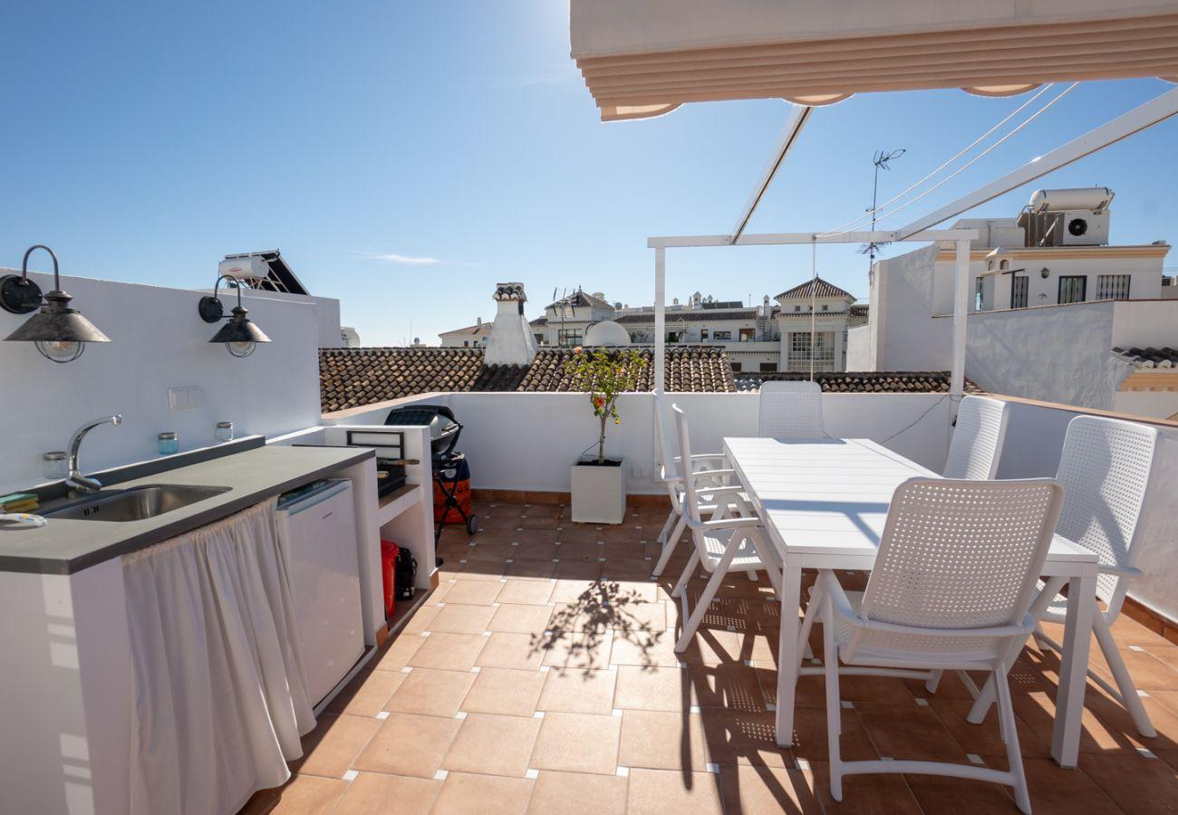 Casa en Nerja - Casa con aire acondicionado a200 mde la playa