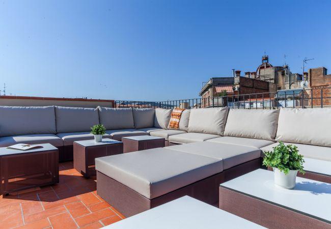 Apartamento en Barcelona - Family DELUXE piso confortable con piscina y terraza en Eixample, Barcelona centro.