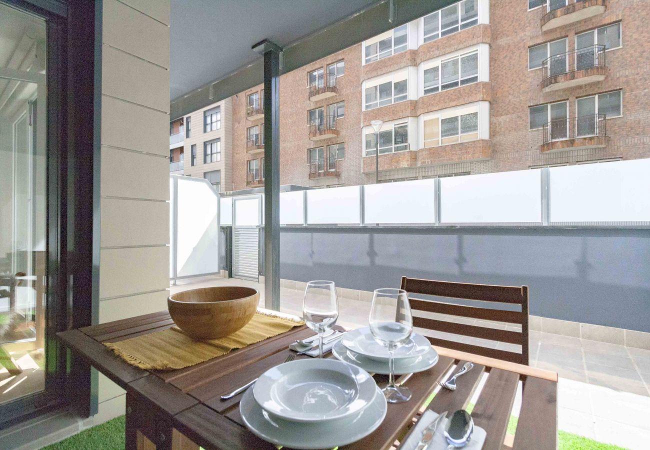 Apartamento en San Sebastián - Apartamento de 1 dormitorios a650 mde la playa