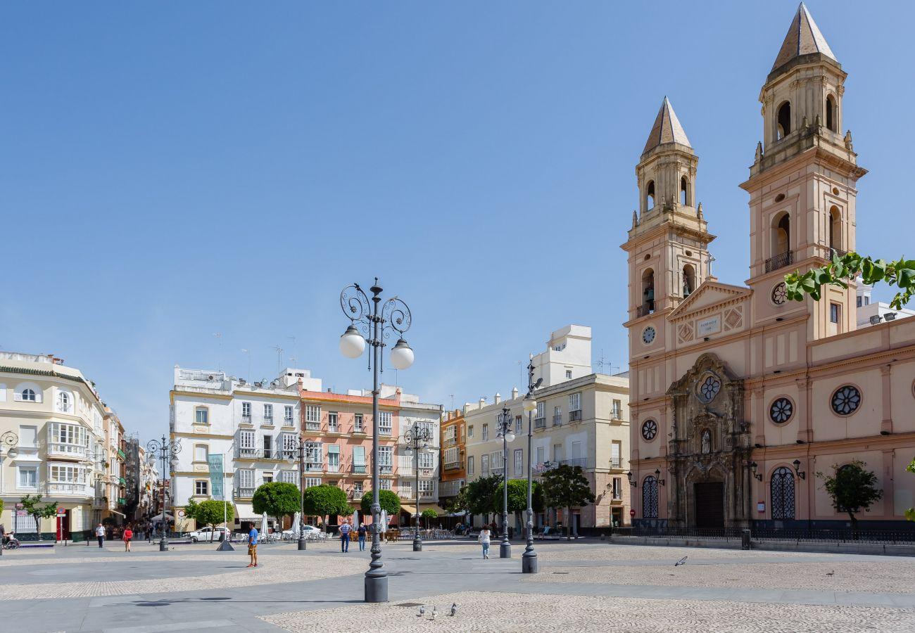 Casa en Cádiz - Casa con aireacondicionado a800 mde la playa