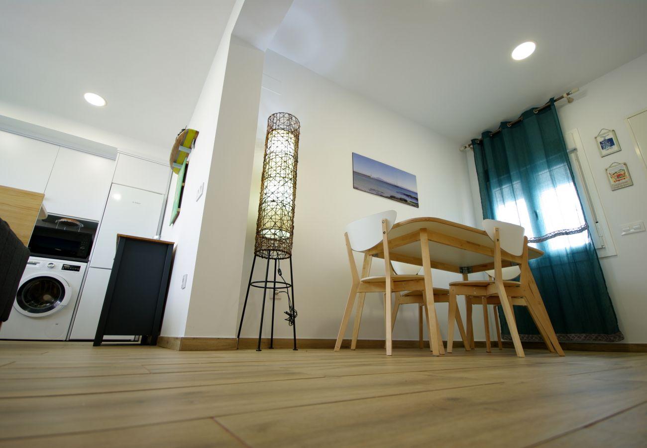 Apartamento en Tarifa - Apartamento con aire acondicionado a500 mde la playa