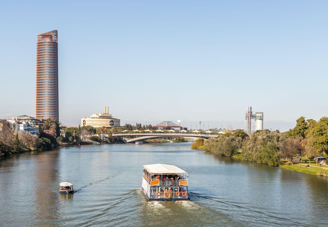 Estudio en Sevilla - Estudio con aire acondicionado en Sevilla