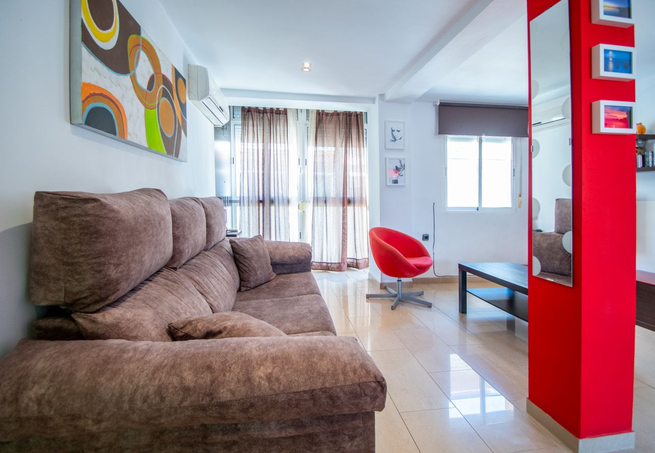 Apartamento en Cádiz - Apartamento con aireacondicionado a200 mde la playa