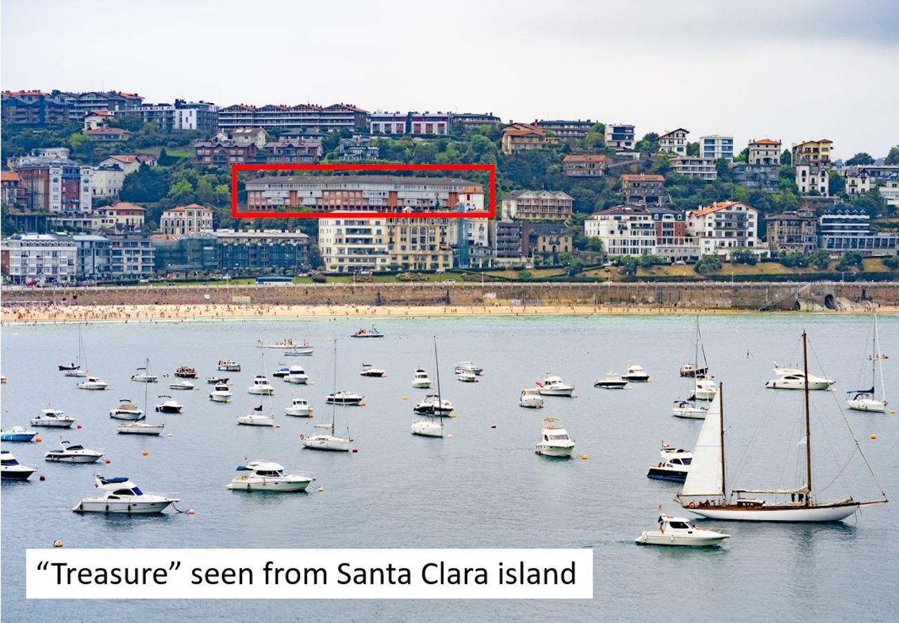 Apartamento en San Sebastián - Apartamento para 8 personas a100 mde la playa