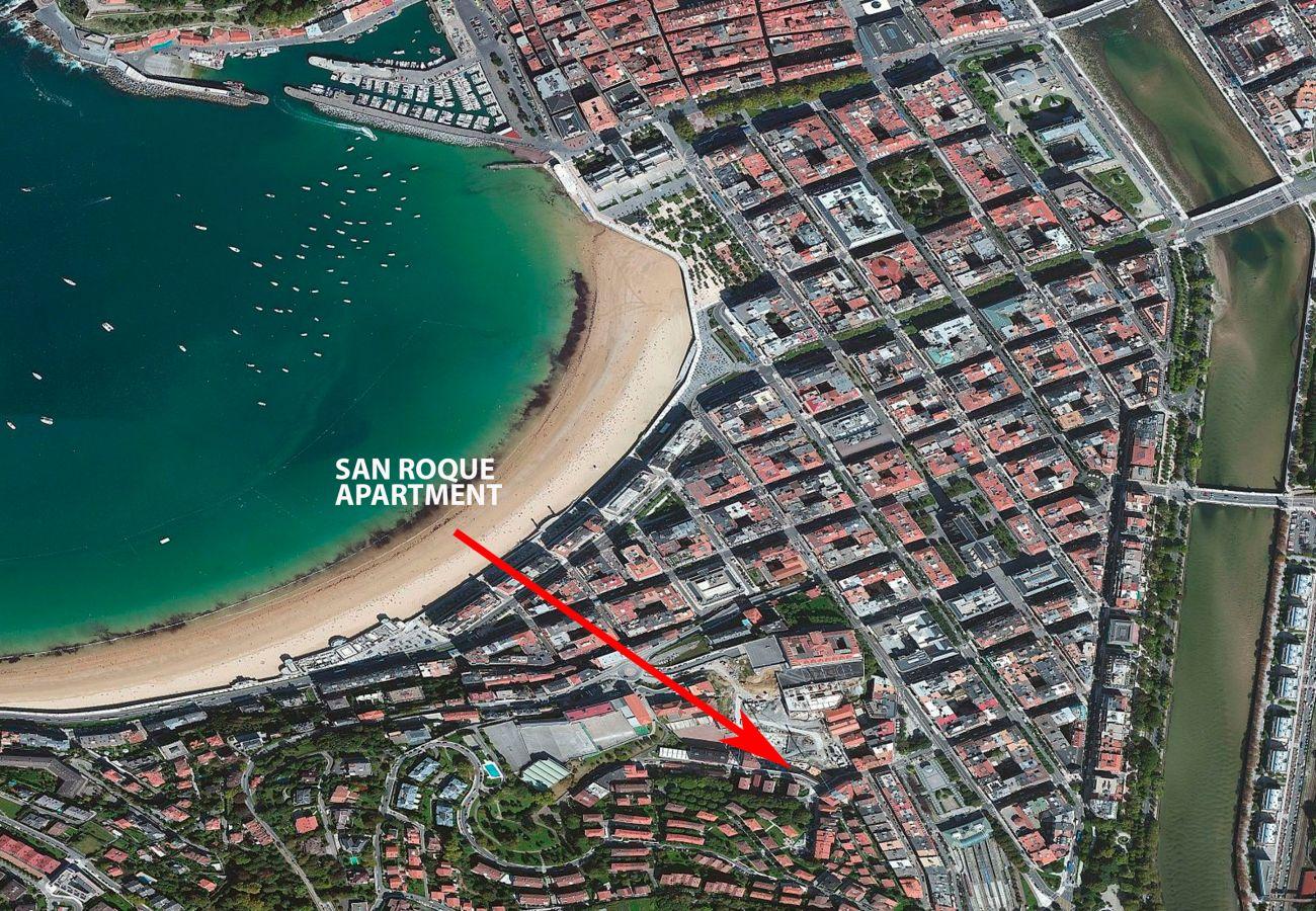 Apartment in San Sebastián - Apartment of 2 bedrooms to800 mbeach