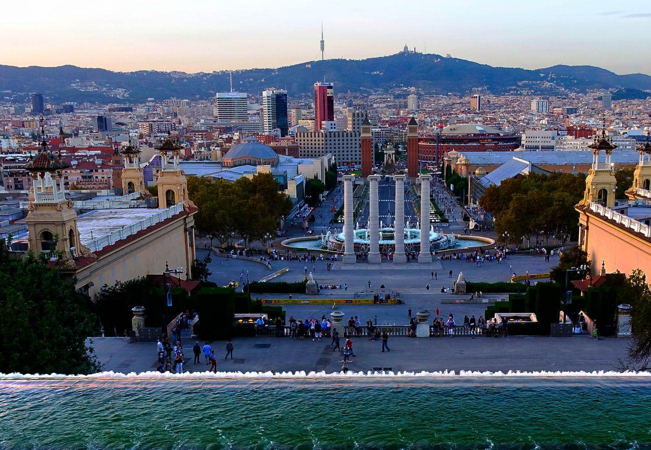 central apartment in Barcelona next to Plaza España and all public transport.
