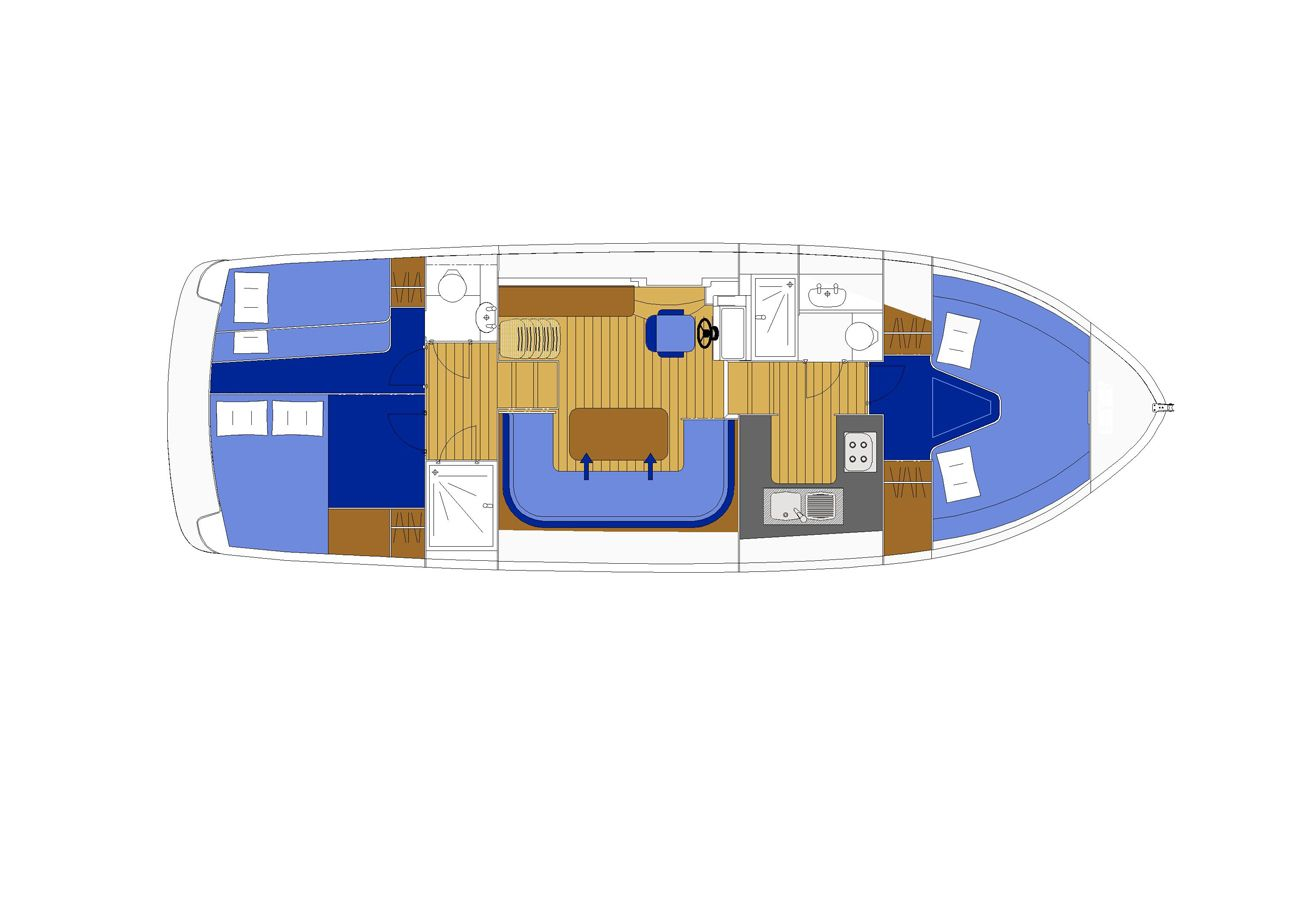 Boating holiday in Northern Ireland Manor Marine Noble Captain 6/8 Berth Lough Erne Co. Fermanagh