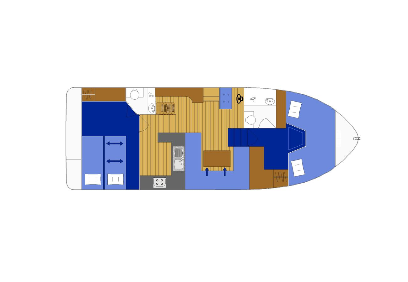 Boating Holiday in Northern Ireland Manor Marine Noble Chief 4/6 Berth Lough Erne Co. Fermanagh