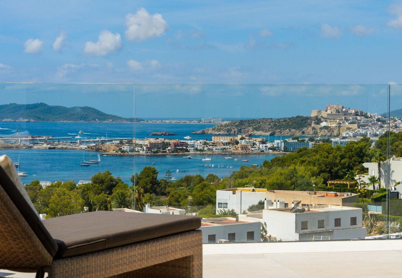 Villa à Ibiza - Villa avec piscine à1 kmde la plage