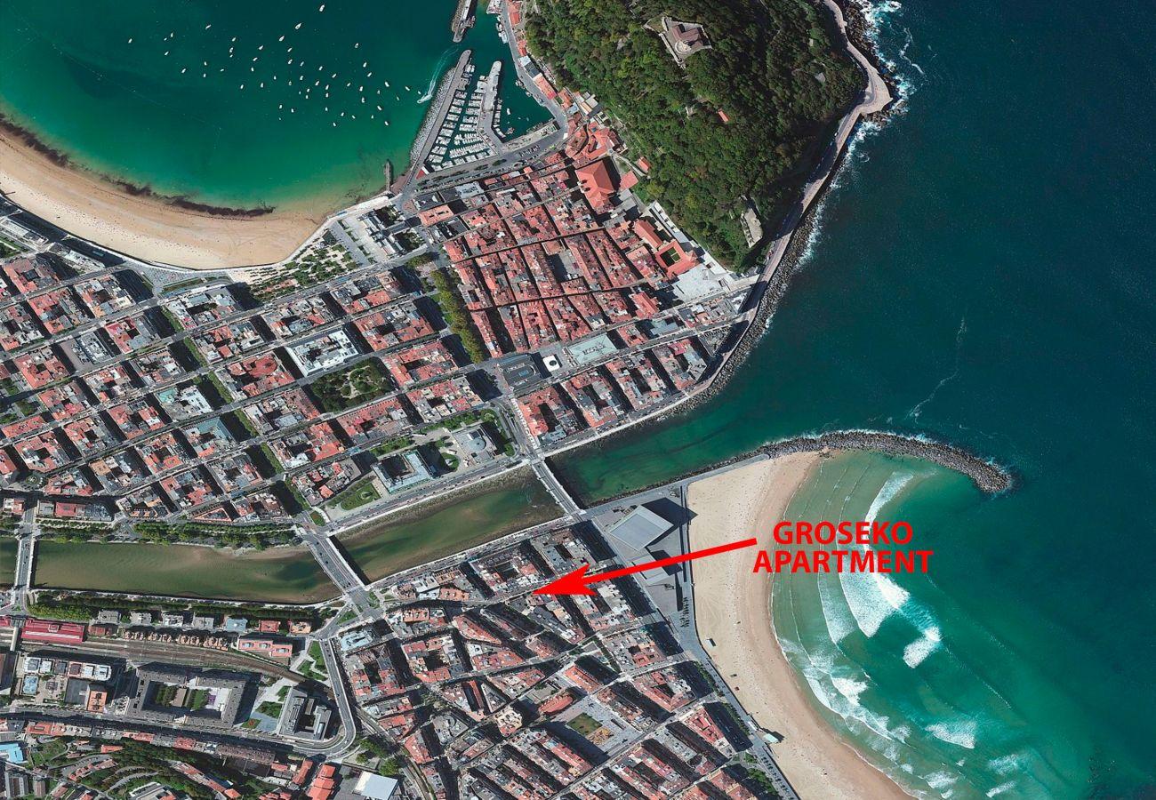 Appartement à San Sebastián - Appartement avec 2 chambres à150 mde la plage