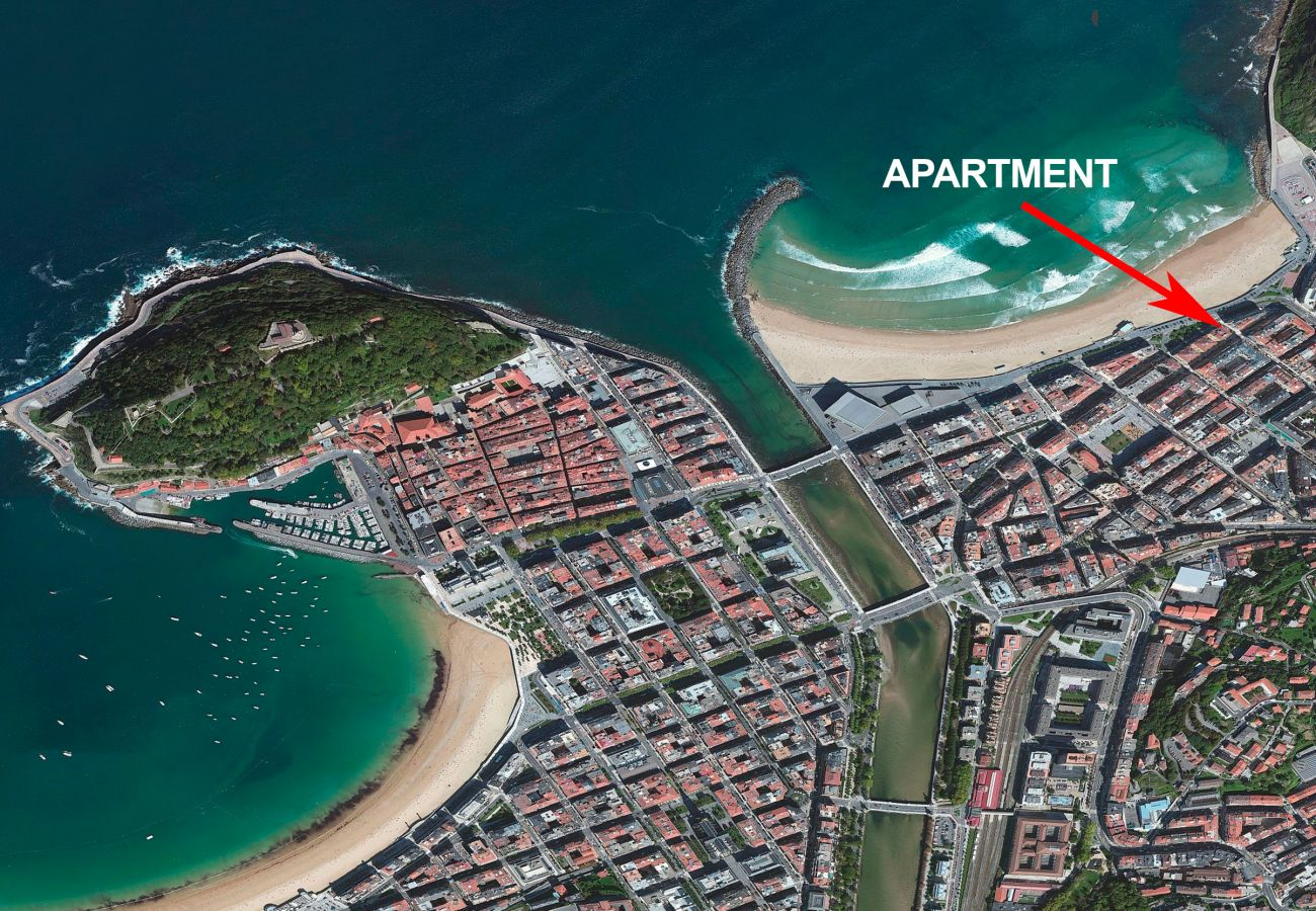 Appartement à San Sebastián - Appartement avec 3 chambres à50 mde la plage