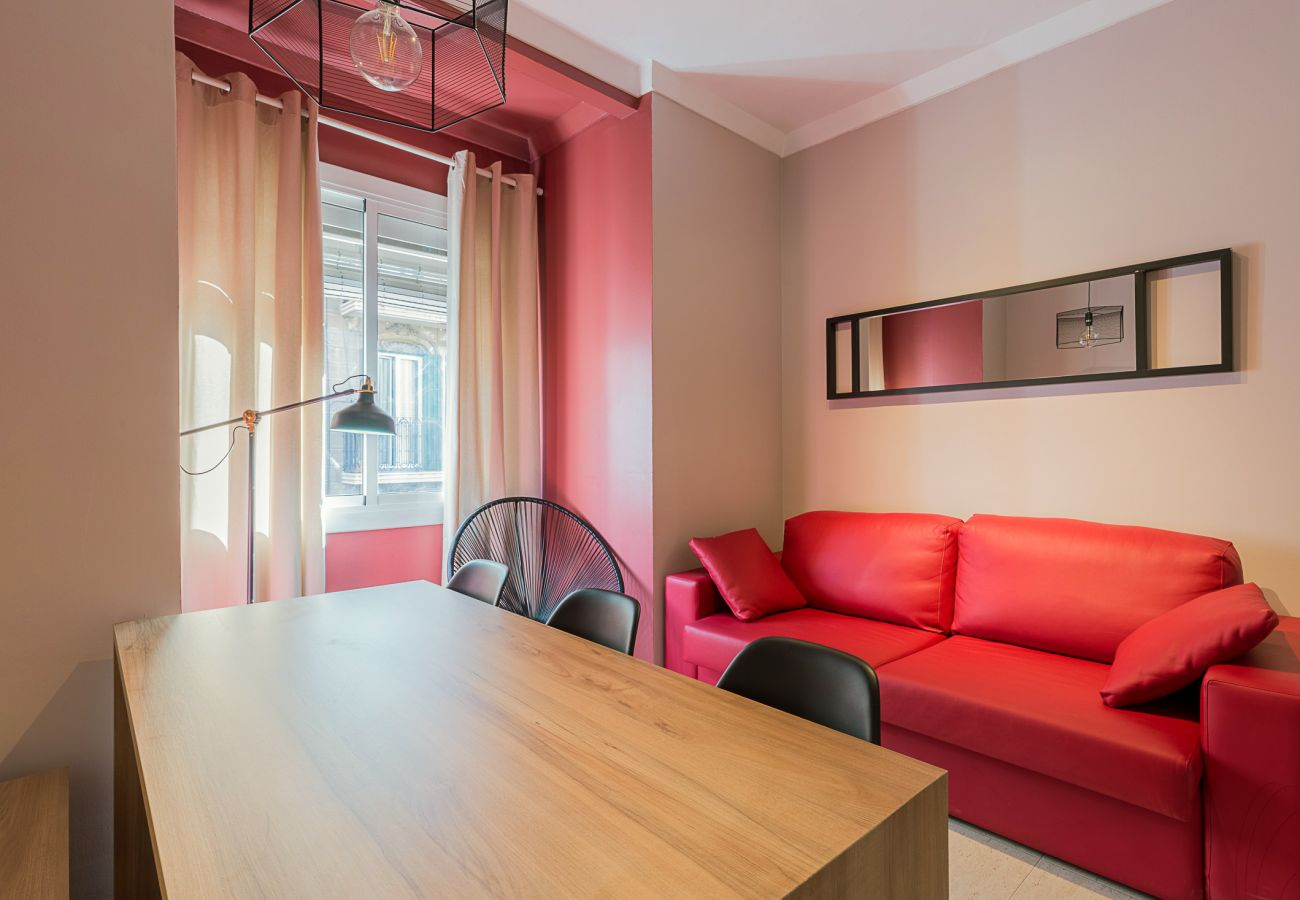salon moderne dans l'appartement Plaza España dans le centre de Barcelone