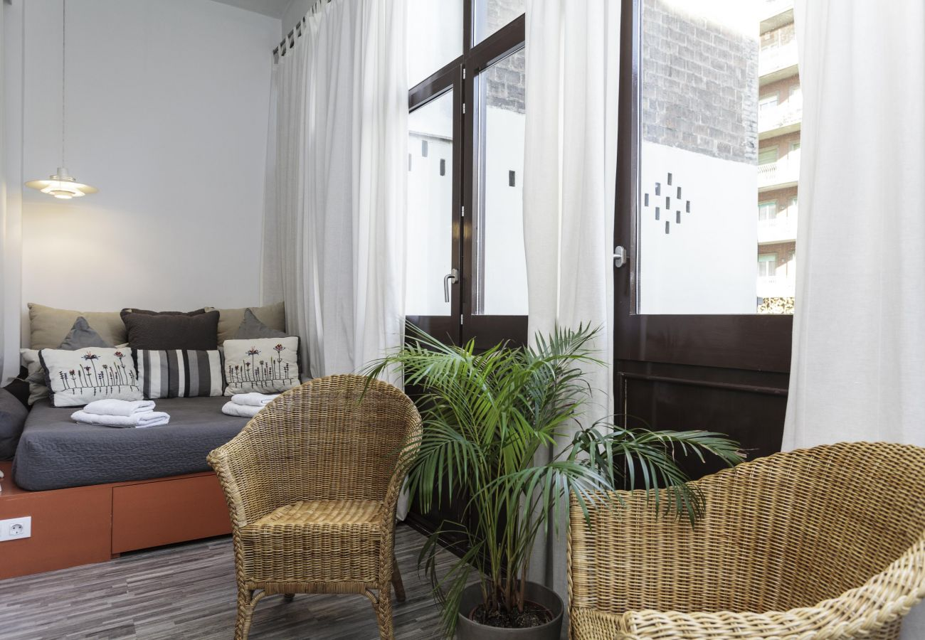 Chambre double extérieure dans l'hébergement Casanova Elegance dans le quartier de l'Eixample, Barcelone