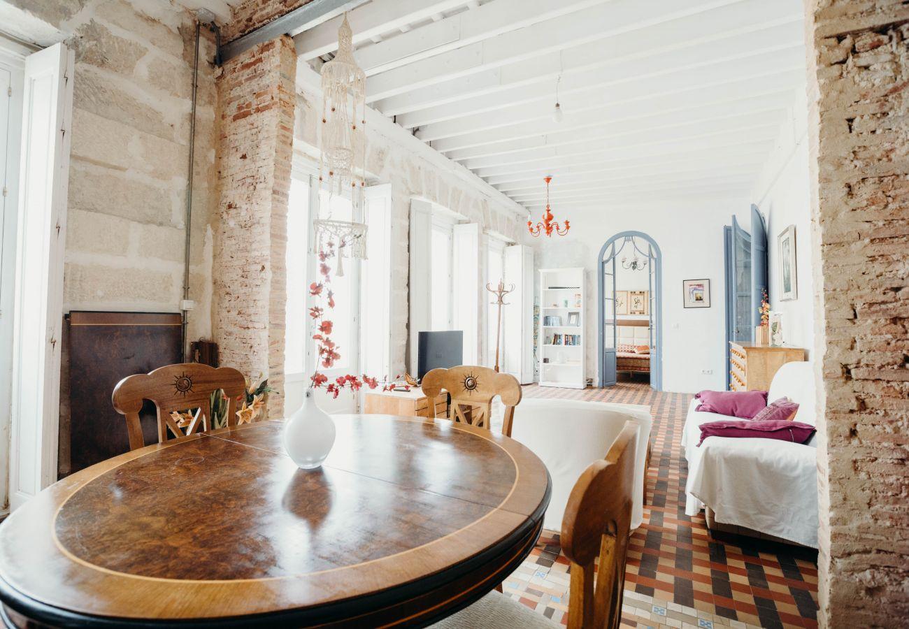 Appartement à Cadix - Appartement avec 3 chambres à1 kmde la plage