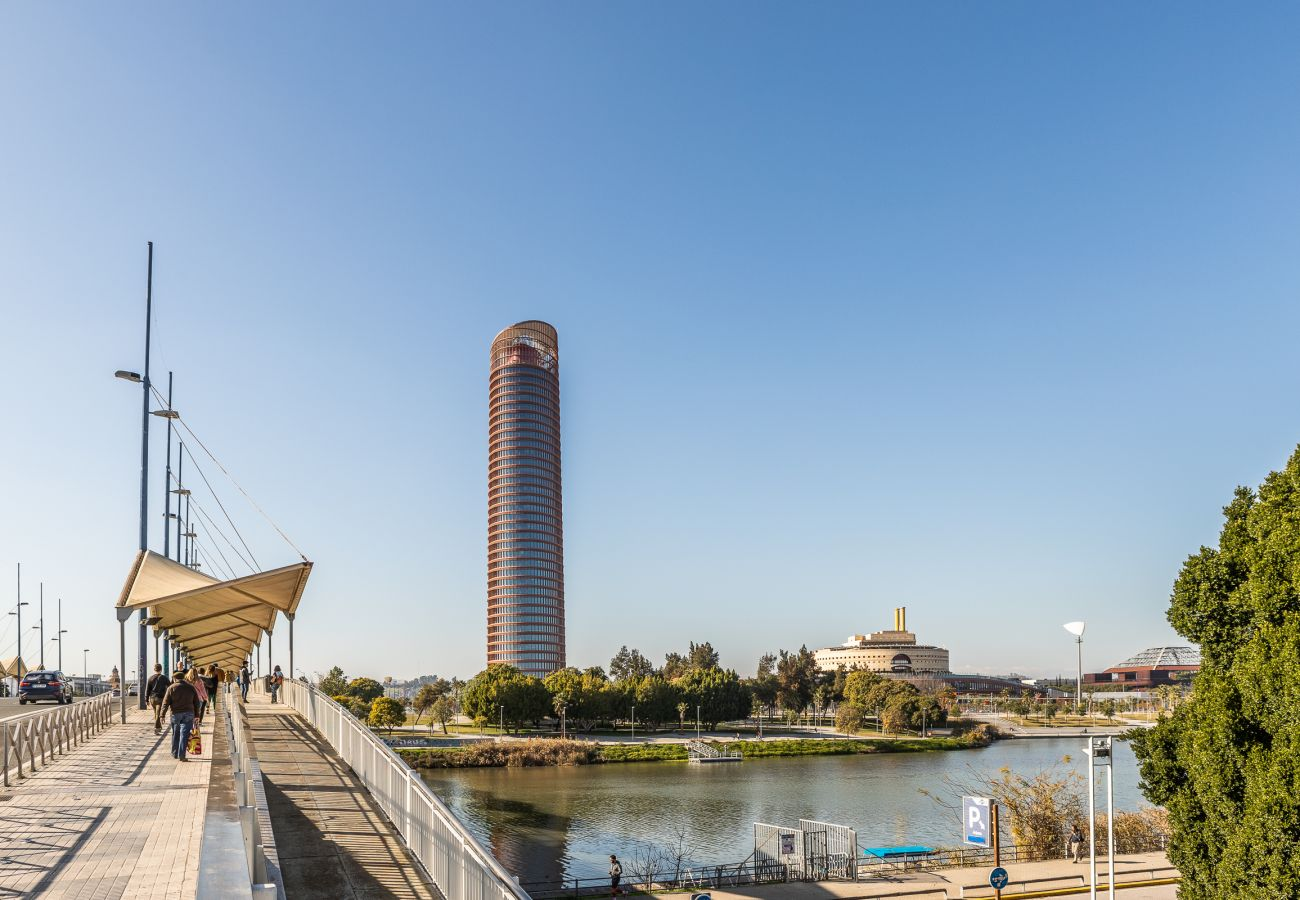 Studio à Seville - Studio avec climatisation à Sevilla