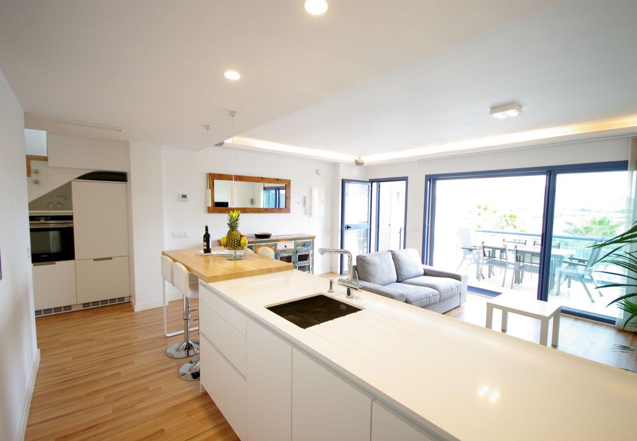 Appartement à Tarifa - Appartement avec 2 chambres à100 mde la plage