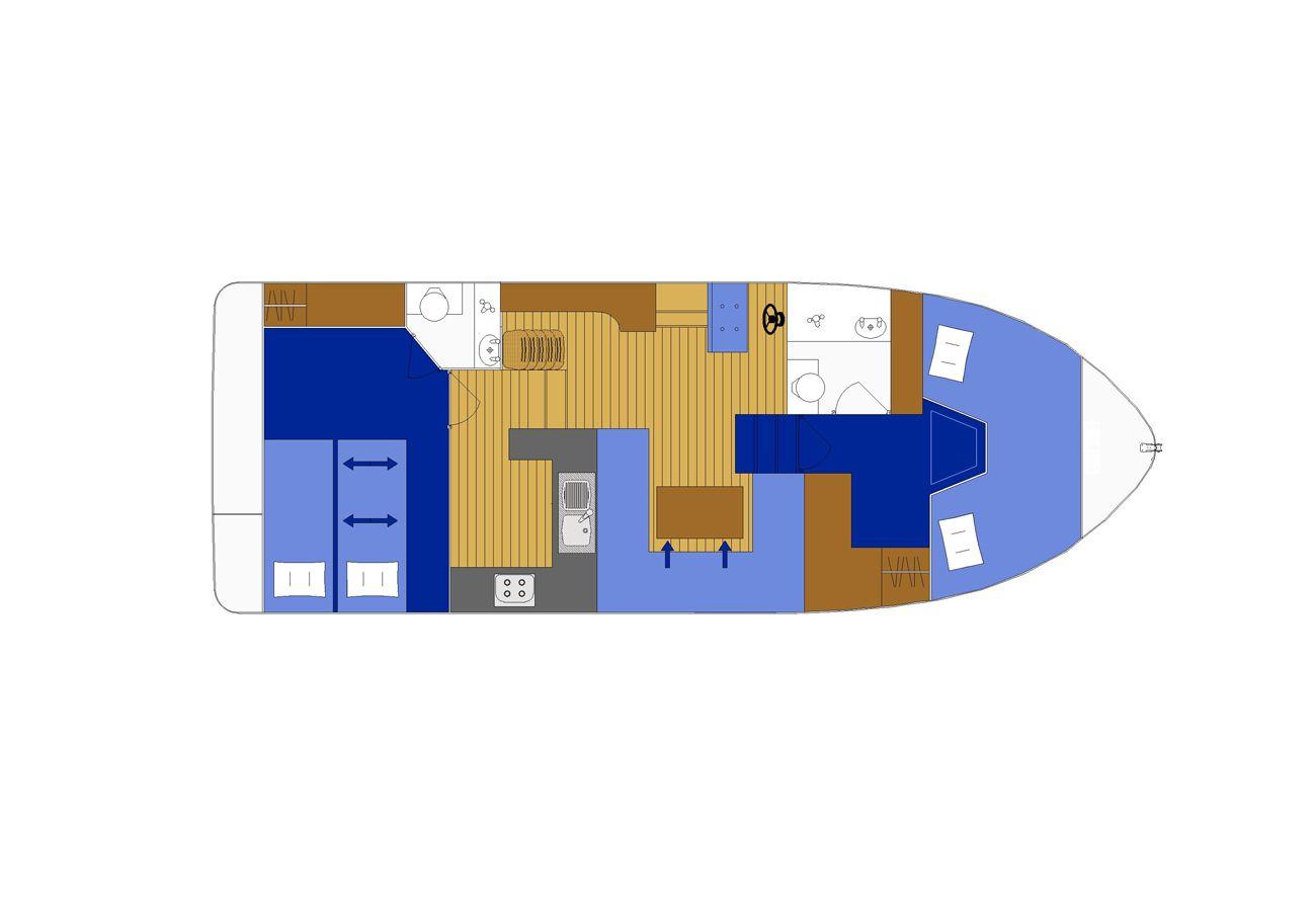 Bateau à Killadeas - Bateau avec 2 chambres à Killadeas